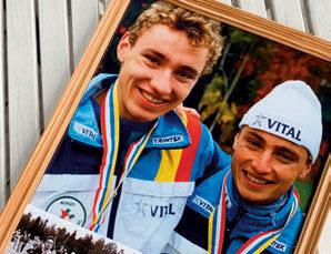 STAFETTGULL: Gode minner fra stafett gull i Nordisk mesterskap i 1992 sammen med bror Bernt ( til venstre).