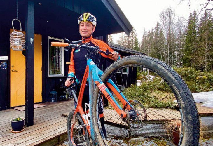 NATUREN TETT PÅ: Anders og familien bor «i høyden» av Lillehammer, kort vei til Birkebeiner Skistadion.