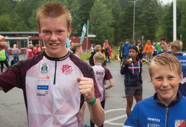 SINDIGE KARER: Even Lien og Sondre Olaussen sikret hvert sitt gull i H14. Seiersbrølene var ikke overdøvende utenfor Åsen skole i Lørenskog etter sprinten.
