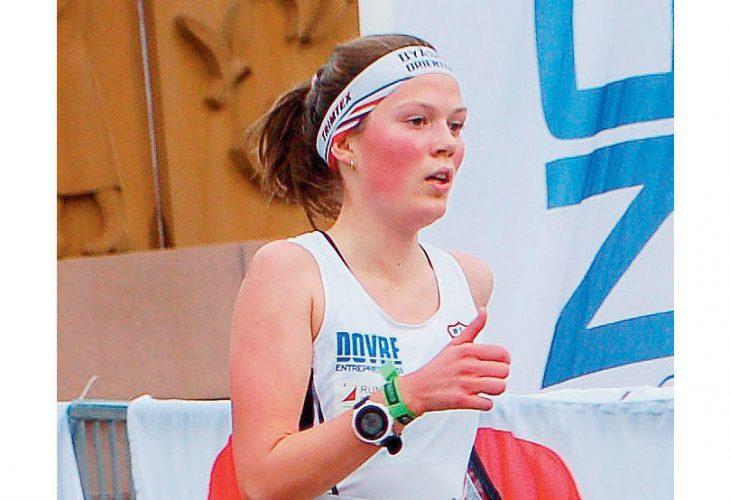 DOBBELT GULL: Lene Berg Hansen avsluttet juniortida med to sprint-gull i Haugesund. Foto: Ivar Haugen