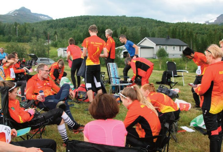 DOMINERTE: BUL Tromsø hadde en stor kontingent på Nordnorsk Mesterskap og vant blant annet gull i alle de fem klassene de stilte stafettlag i. FOTO: HARALD STRAND