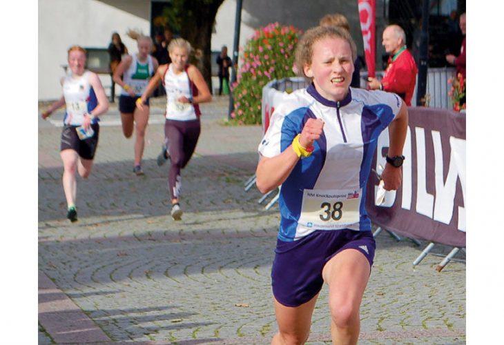 GULL OG BRONSE: Førsteårsjunior Ingeborg Rygg Eikeland bør være fornøyd med sprint-NM. FOTO: IVAR HAUGEN