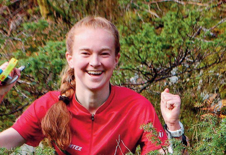 SEIERSGLEDE: Mathea Gløersen lyktes ikke i gulljakten under Hovedløpet. Derfor betydde seieren i O-idol ekstra mye. FOTO: IVAR HAUGEN
